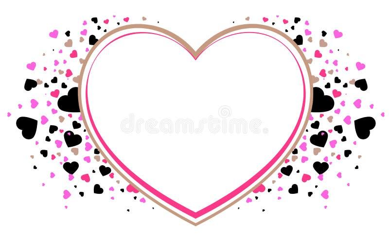 Simbolo della struttura di forma del cuore di amore Rosa rossa royalty illustrazione gratis