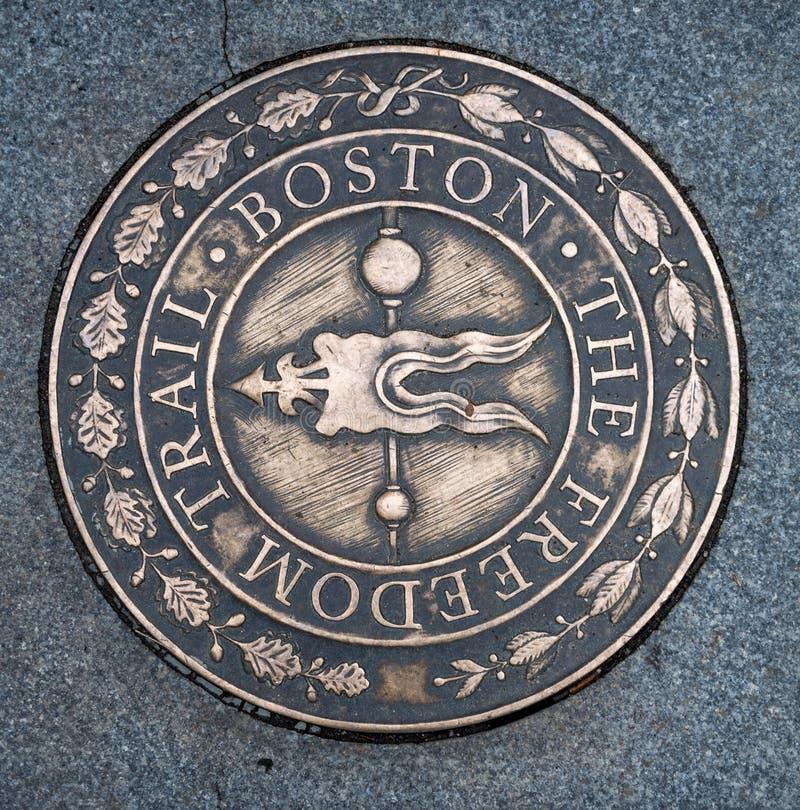 Simbolo della traccia di libertà a Boston immagini stock