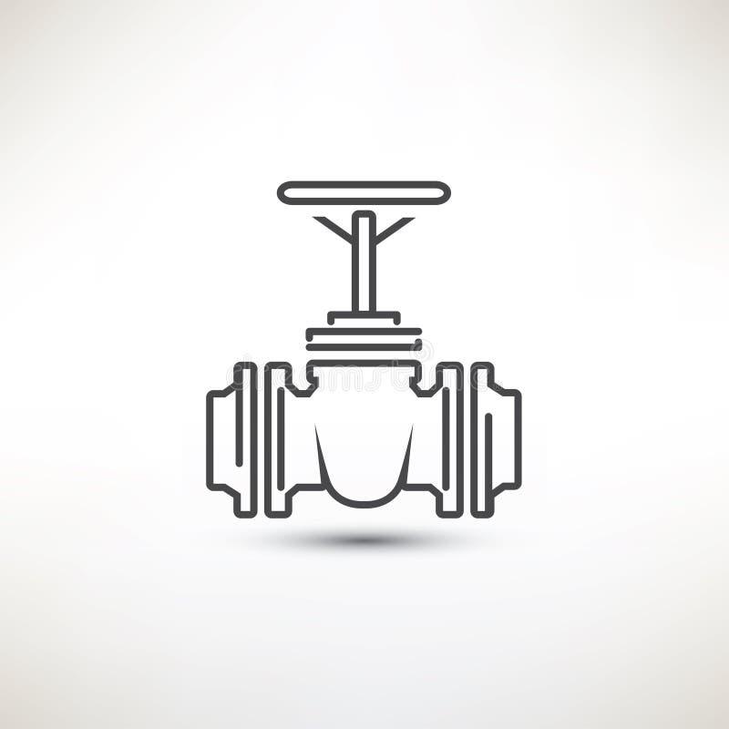Simbolo della valvola illustrazione di stock