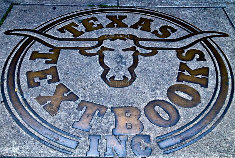 Simbolo delle mucche texane del Texas fotografia stock