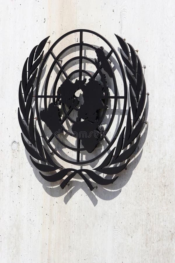 Simbolo delle Nazioni Unite fotografia stock libera da diritti