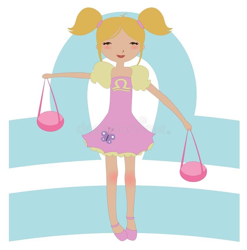 Simbolo dello zodiaco del Libra royalty illustrazione gratis
