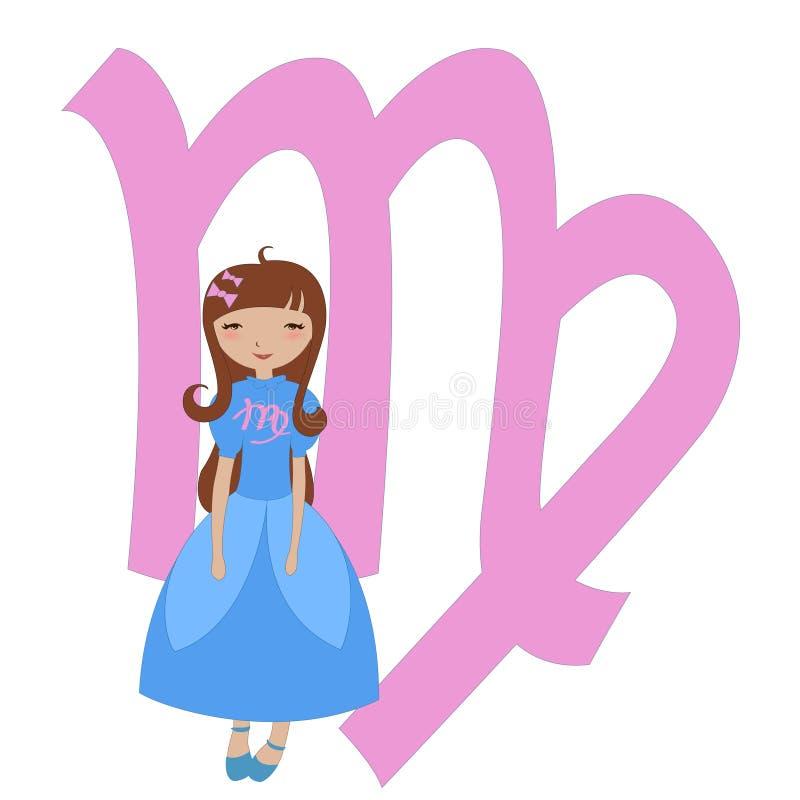 Simbolo dello zodiaco del Virgo illustrazione di stock