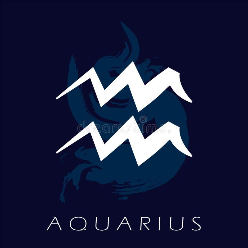 Simbolo dello zodiaco di acquario Predizione del futuro con i segni dello zodiaco royalty illustrazione gratis