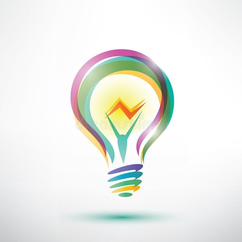 Simbolo descritto della lampadina illustrazione vettoriale