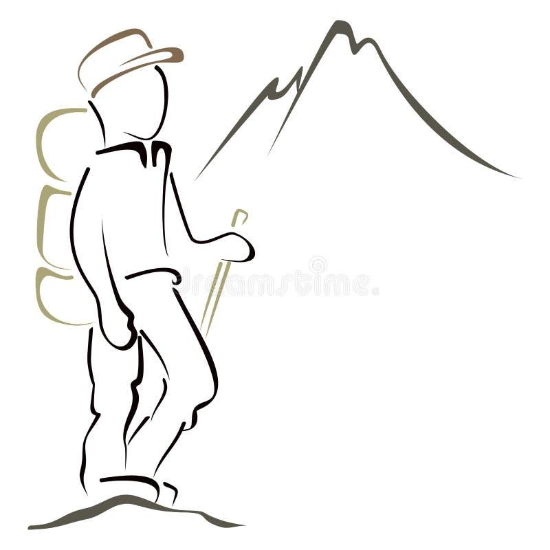Simbolo di alpinismo royalty illustrazione gratis