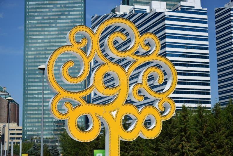 Simbolo di Astana immagini stock