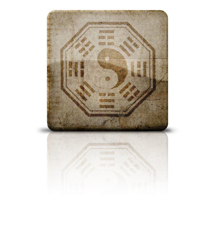 Simbolo di Bagua o di Pakua immagine stock