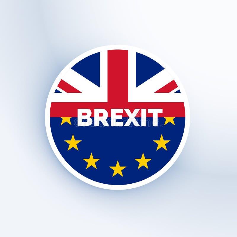 Simbolo di Brexit con la bandiera dell'Eu e del Regno Unito royalty illustrazione gratis