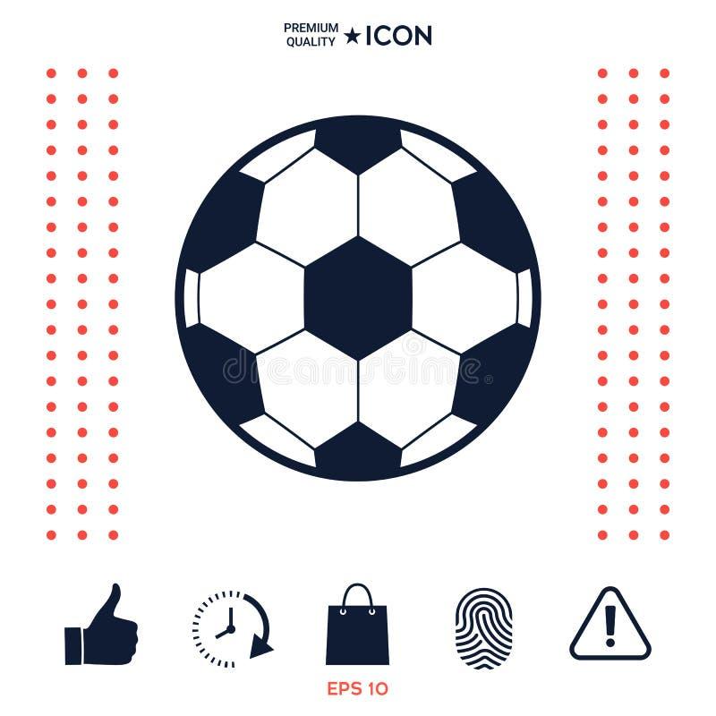 Download Simbolo Di Calcio Icona Del Pallone Da Calcio Illustrazione Vettoriale - Illustrazione di isolato, football: 117975099