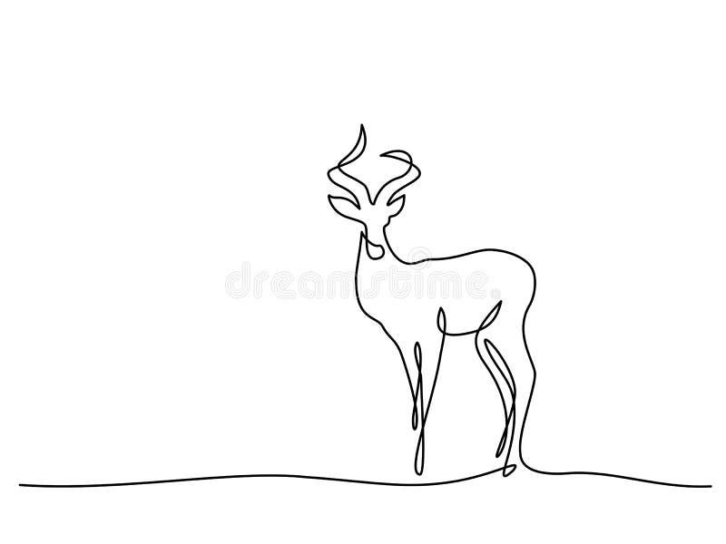 Simbolo di camminata dell'impala illustrazione di stock