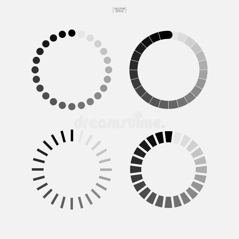 Simbolo di caricamento Icona astratta del filatore per web design Vettore illustrazione vettoriale
