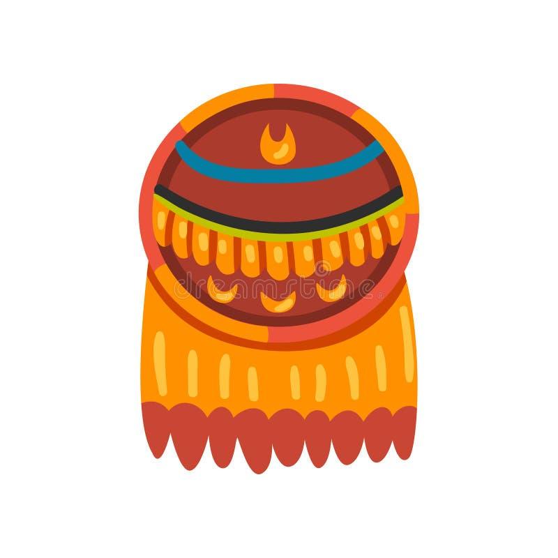 Simbolo di civilizzazione di maya, segno del totem, illustrazione tribale americana di vettore dell'elemento della cultura su un  illustrazione di stock