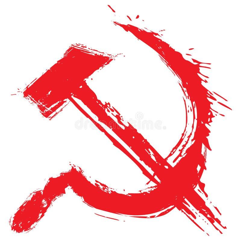 Simbolo di comunismo illustrazione di stock