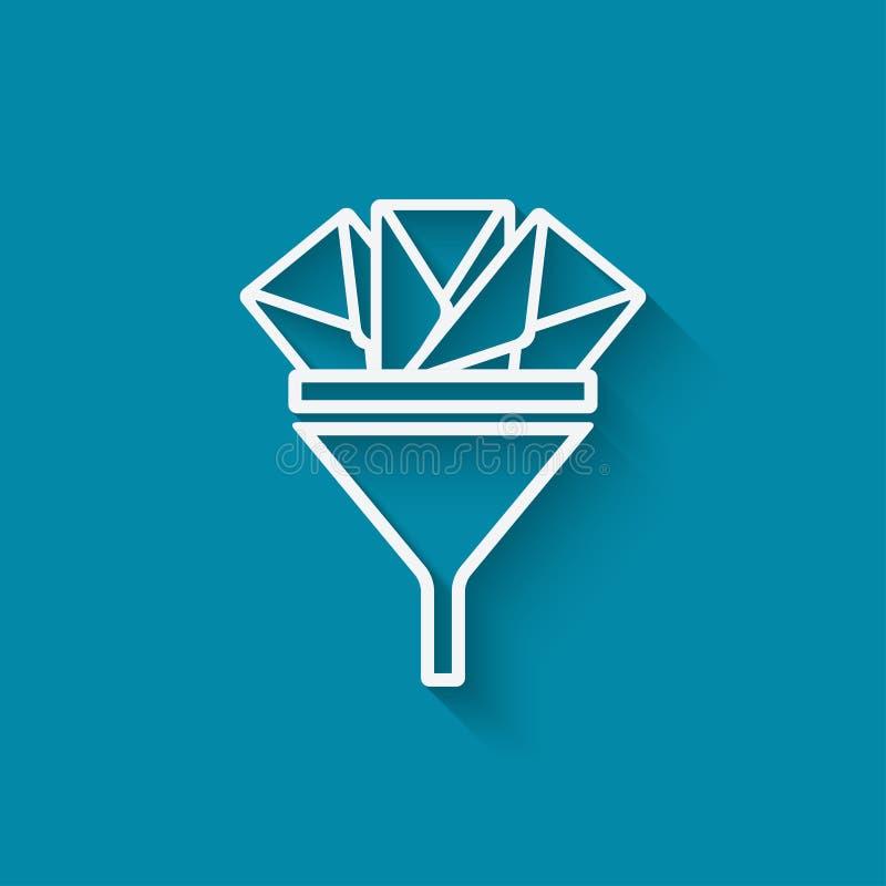 Simbolo di concetto del filtro dallo Spam royalty illustrazione gratis