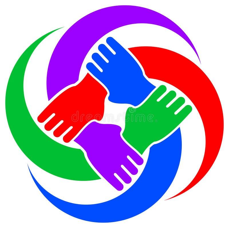 Simbolo di cooperazione illustrazione di stock