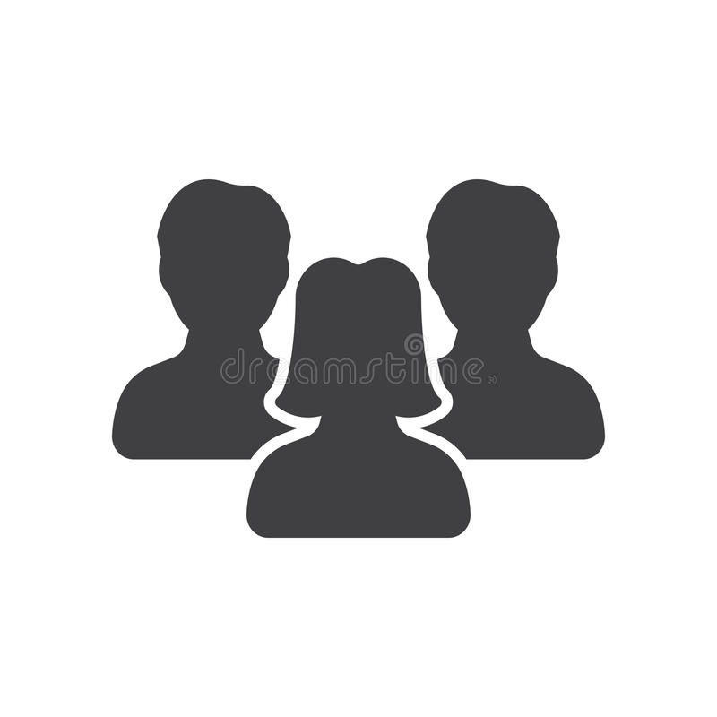 Simbolo di direzione del ` s delle donne, vettore dell'icona della gente, illustrazione vettoriale