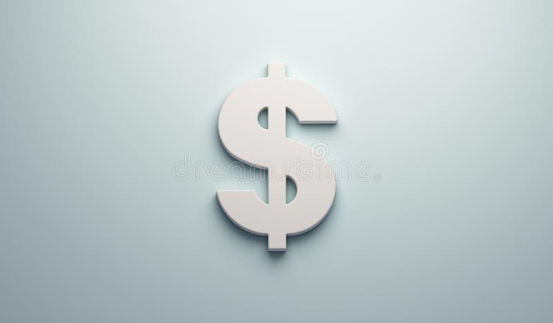 Simbolo di dollaro - affare e finanza 3d rendono l'illustrazione illustrazione di stock