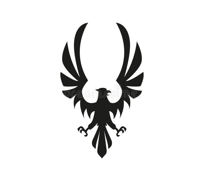 Simbolo di Eagle isolato su fondo bianco illustrazione di stock