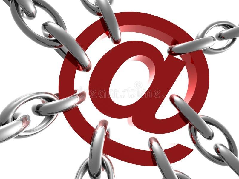 Simbolo di email address sulla catena illustrazione vettoriale