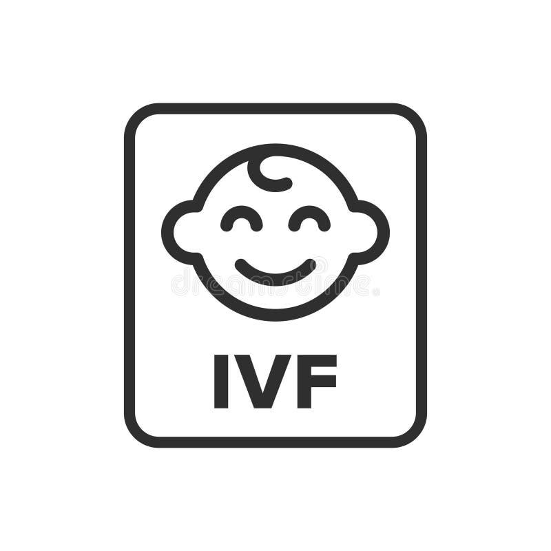 Simbolo di fertilizzazione in vitro illustrazione vettoriale