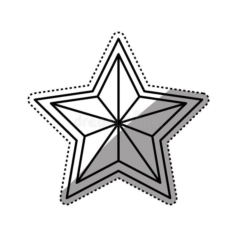 Simbolo di forma della stella fotografie stock