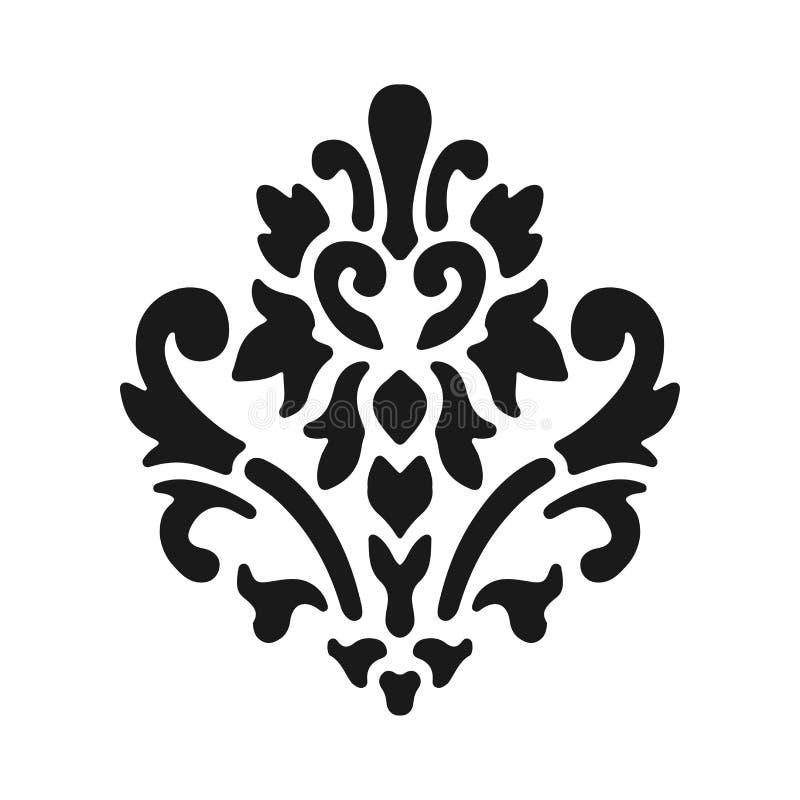 Simbolo di giglio araldico, siluetta nera - simbolo araldico Illustrazione di vettore Segno medievale Lil reale d'ardore di gigli illustrazione vettoriale