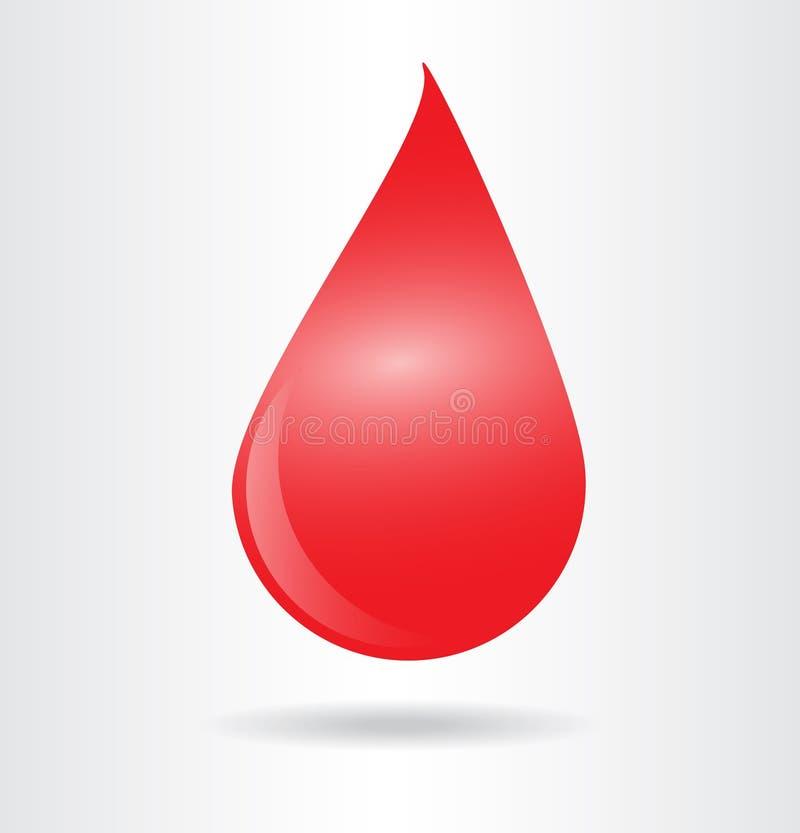 Simbolo di goccia del sangue illustrazione di stock