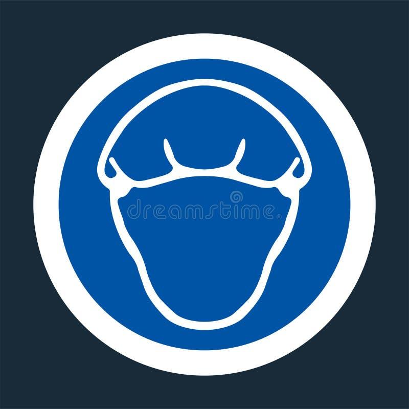 simbolo di Hairness di usura di simbolo su fondo nero, illustrazione di vettore royalty illustrazione gratis