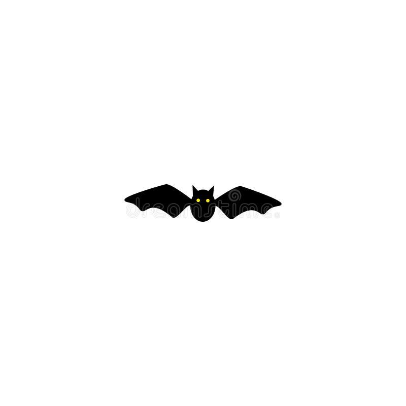 Simbolo di Halloween E Pipistrello nero Siluetta fumetto Illustrazione di vettore illustrazione di stock