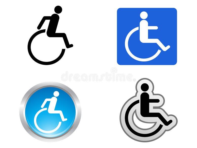 Simbolo di inabilità illustrazione di stock