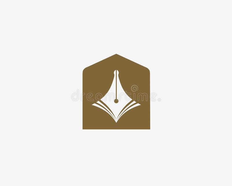 Simbolo di istruzione Icona della penna illustrazione vettoriale