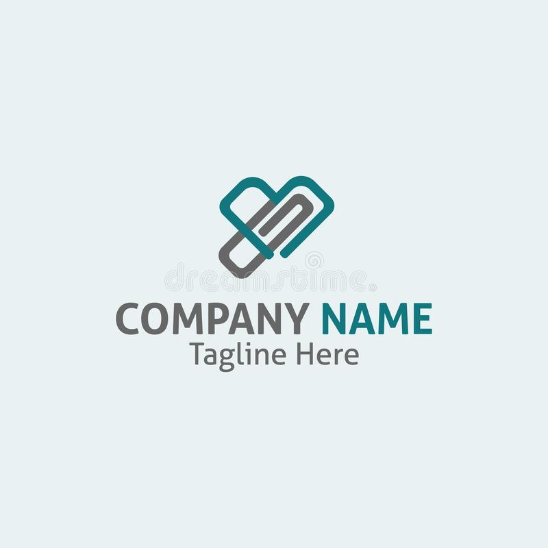 Simbolo di logo delle autorità sanitarie del lavoro per qualsiasi affare e servizio illustrazione di stock