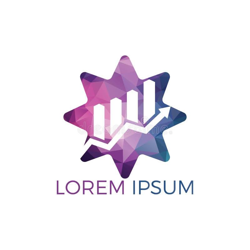 Simbolo di logo di forma della stella dell'estratto di affari Concetto creativo di simbolo di crescita royalty illustrazione gratis