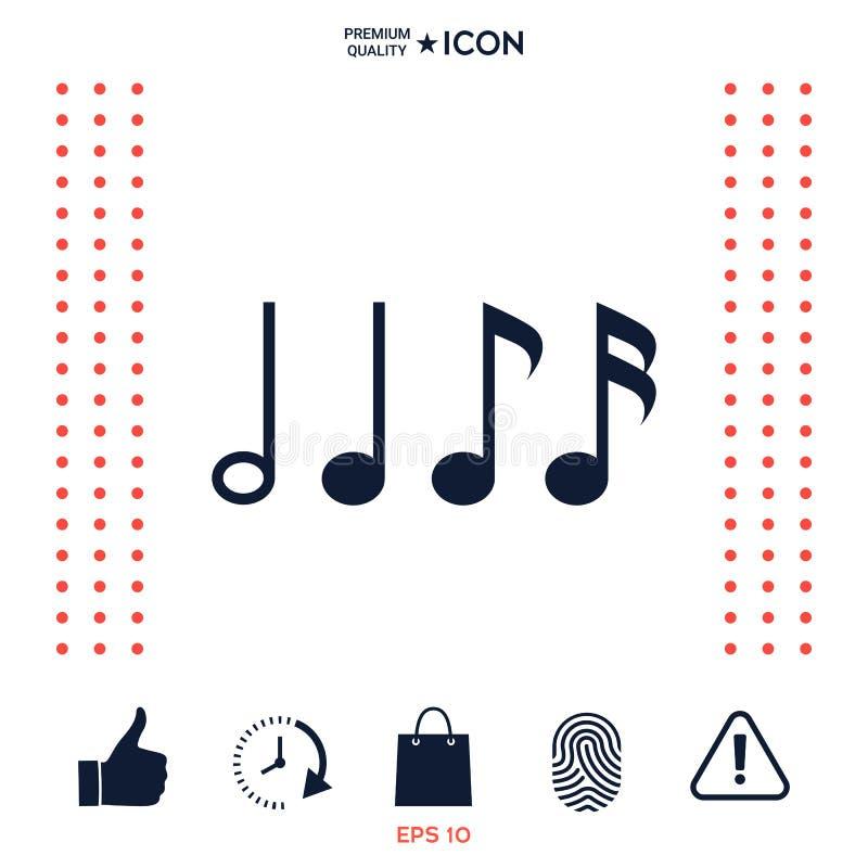 Download Simbolo Di Musica, Note Semicroma, Ottava Nota, Nota Quarta E Minima Illustrazione Vettoriale - Illustrazione di piano, musica: 117977248