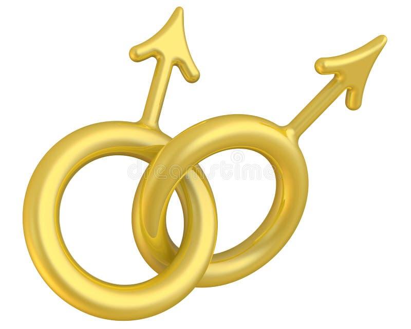 Simbolo di omosessualità maschio illustrazione di stock