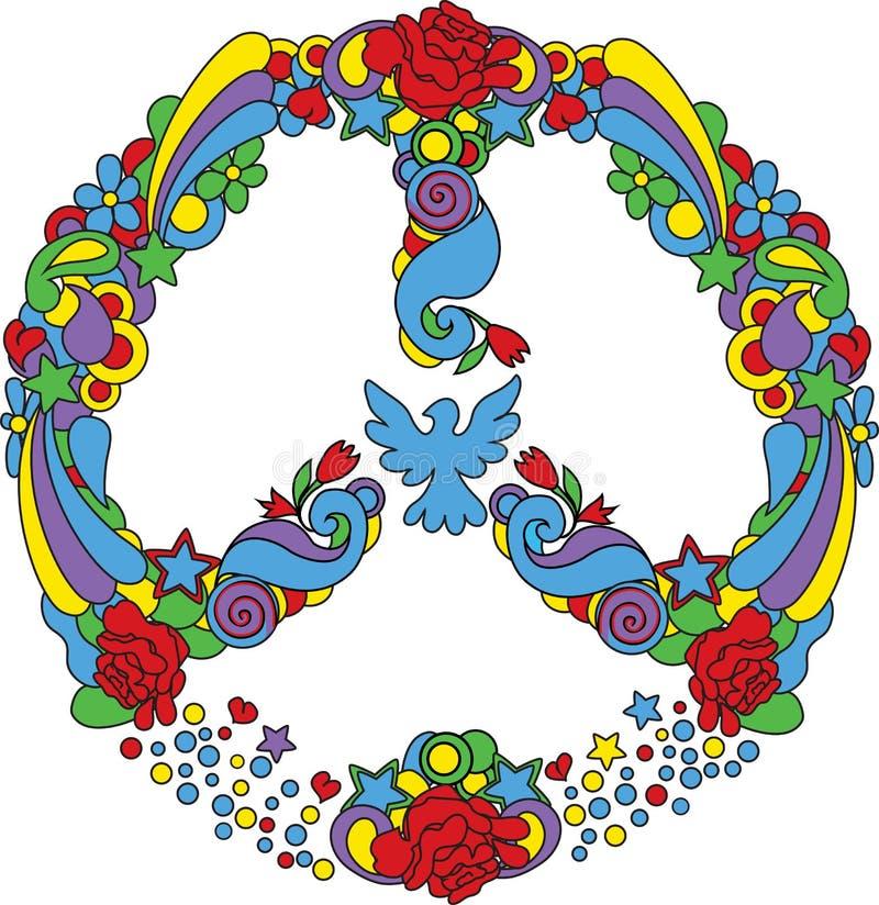 Simbolo di pace illustrazione di stock