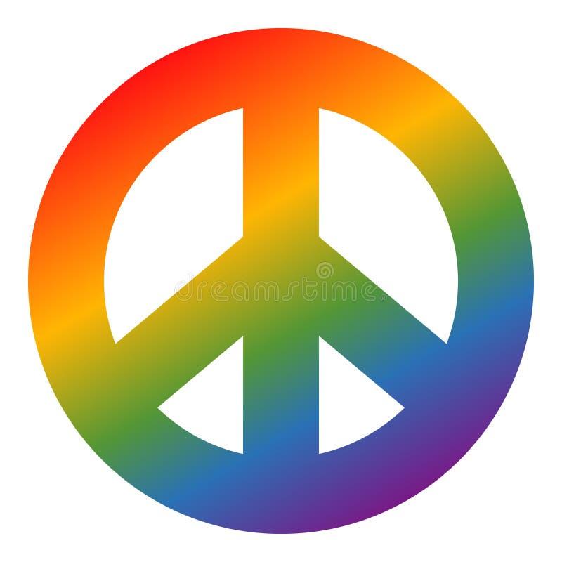 Simbolo di pace colorato arcobaleno nessun 2 illustrazione di stock