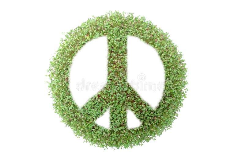 Simbolo di pace verde royalty illustrazione gratis