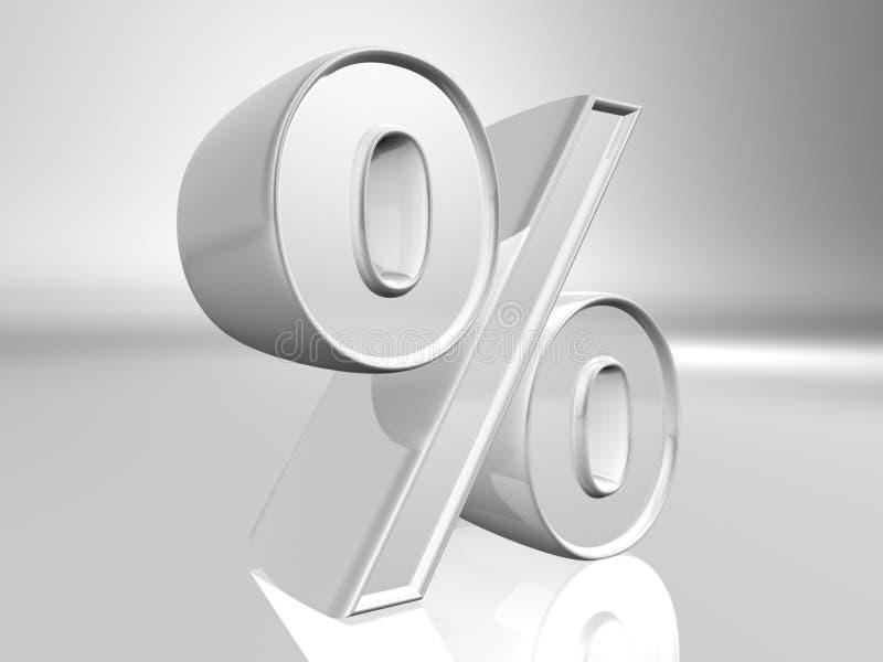 Simbolo di percentuale illustrazione di stock