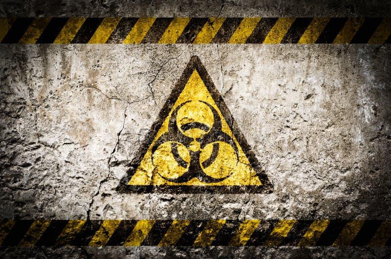 Simbolo di pericolo di radiazione nucleare fotografia stock