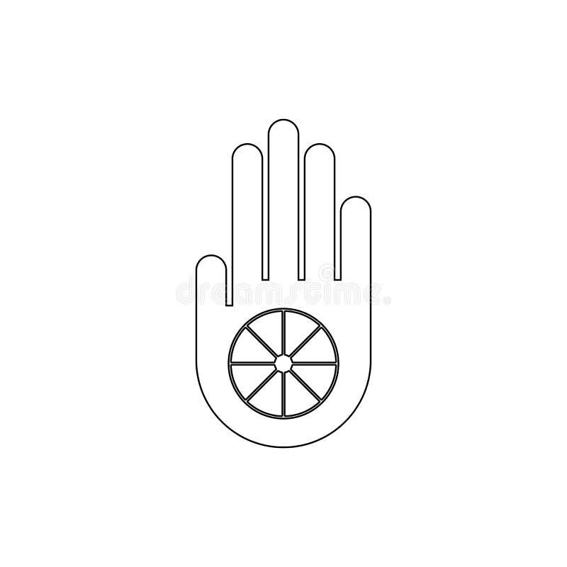 Simbolo di religione, icona del profilo di giainismo Elemento dell'illustrazione di simbolo di religione I segni e l'icona di sim illustrazione vettoriale