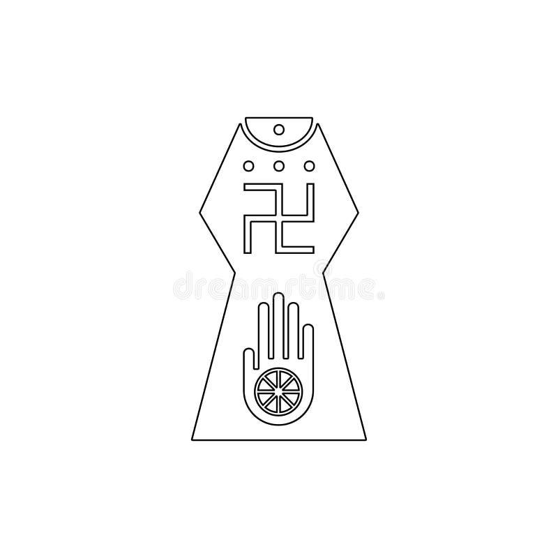 Simbolo di religione, icona del profilo di giainismo Elemento dell'illustrazione di simbolo di religione I segni e l'icona di sim royalty illustrazione gratis
