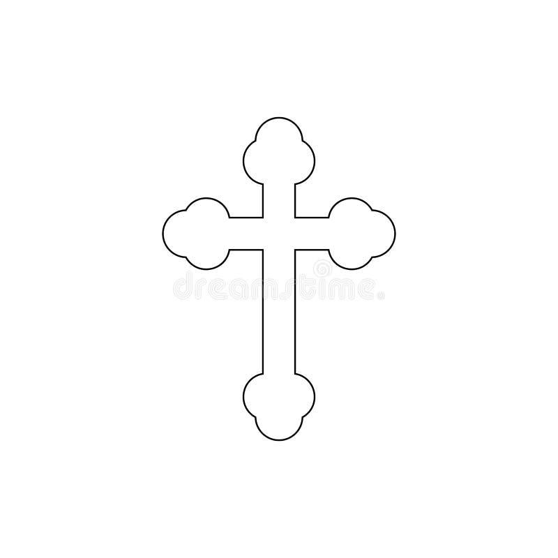 Simbolo di religione, icona ortodossa del profilo Elemento dell'illustrazione di simbolo di religione I segni e l'icona di simbol royalty illustrazione gratis