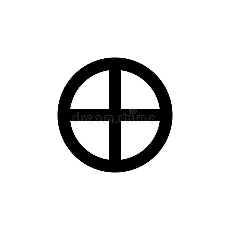 Simbolo di religione, icona di paganesimo Elemento dell'illustrazione di simbolo di religione I segni e l'icona di simboli posson illustrazione di stock