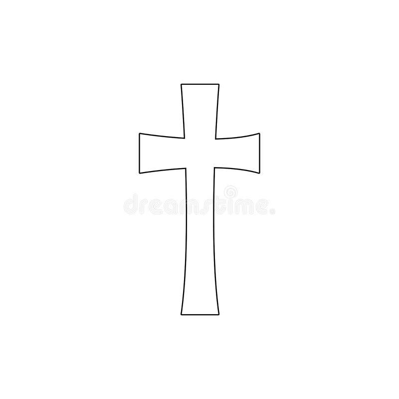 Simbolo di religione, icona trasversale del profilo Elemento dell'illustrazione di simbolo di religione I segni e l'icona di simb illustrazione vettoriale