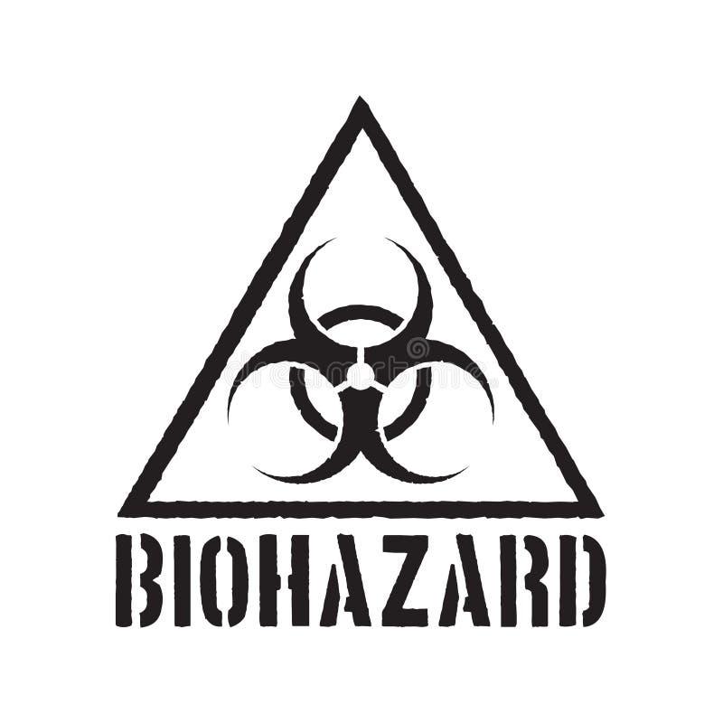 Simbolo di rischio biologico di lerciume royalty illustrazione gratis