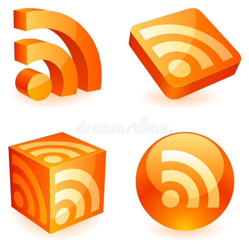 Simbolo di Rss. royalty illustrazione gratis