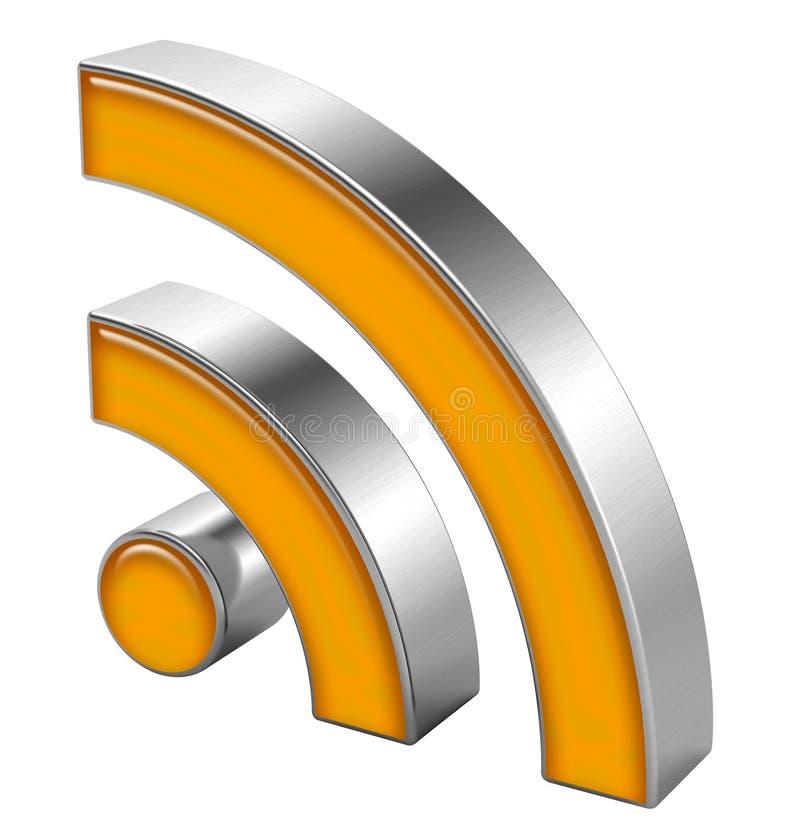 Download Simbolo di RSS fotografia editoriale. Illustrazione di bianco - 7309327