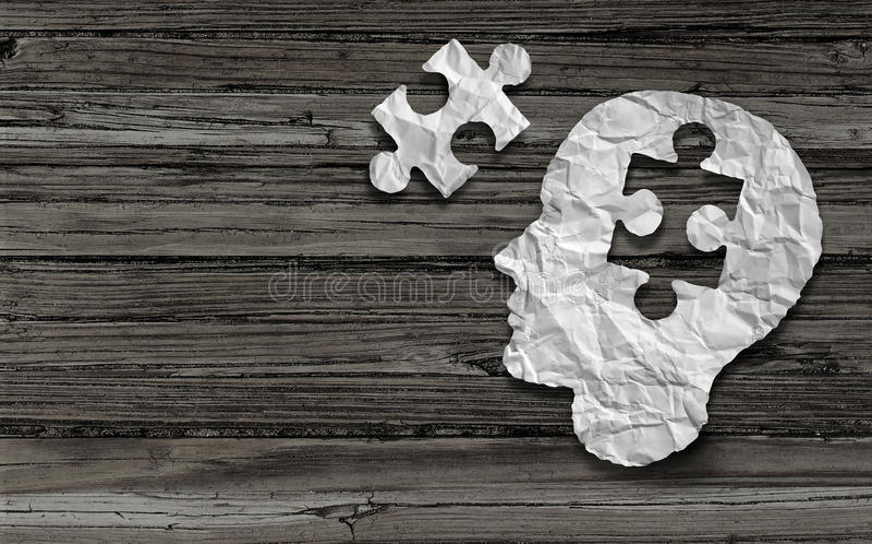 Simbolo di salute mentale illustrazione vettoriale